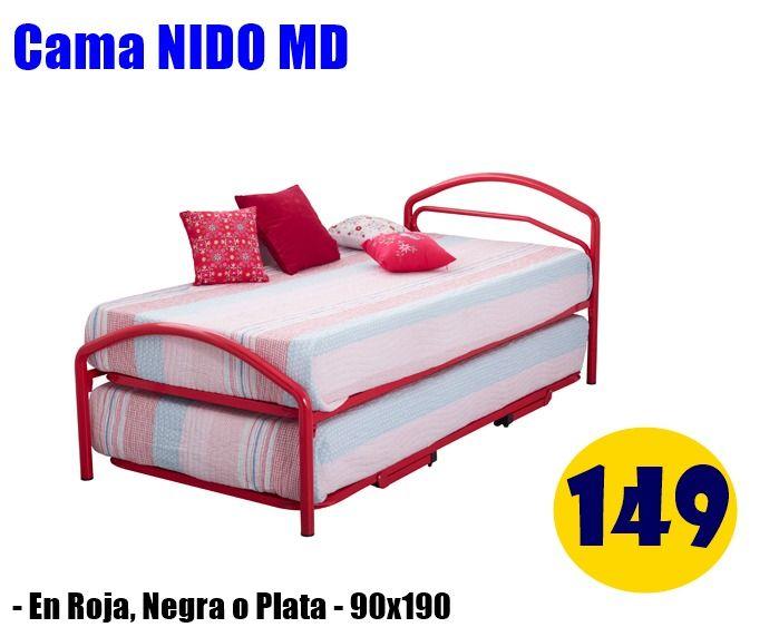Cama Nido de 90x190 en varios colores