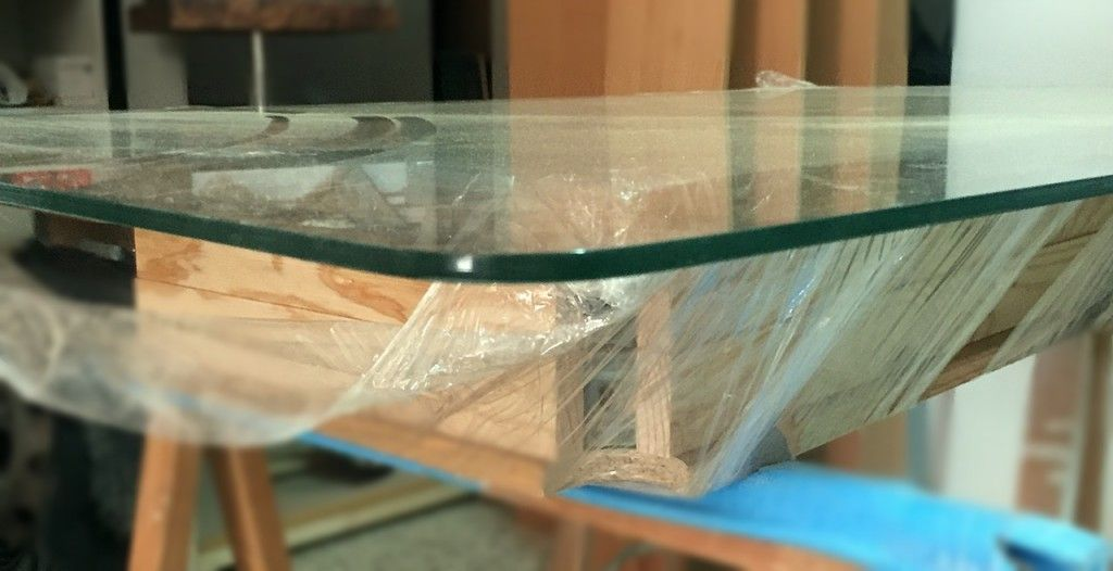 Cristal mesa camilla rectangular de 6mm esquinas redondeadas for Mesa cristal 120x70