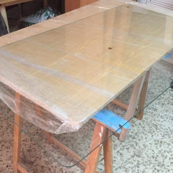 Cristal mesa camilla rectangular de 6mm esquinas redondeadas for Cristal para mesa rectangular