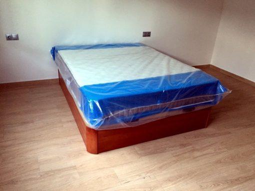 Canape Madera Abatible MAXI con tapa tapizada 3D