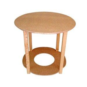 Mesa camilla redonda de madera con tarima para brasero - Mesas camillas redondas ...