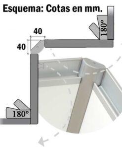 Bisagra Rincomatic Rincobasic40 Aluminio Mate