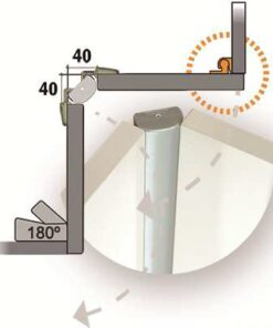 Bisagra RincoPLUS40 Aluminio MATE