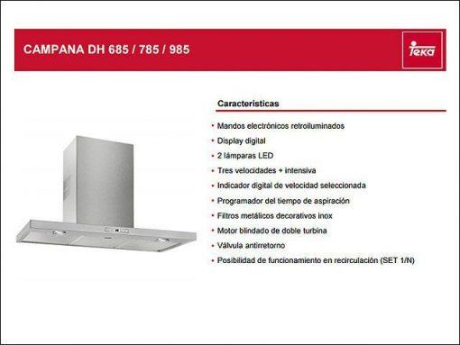 Campana extractora - Teka DH785 Decorativa