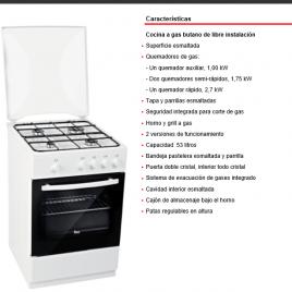 Cocina gas 4 fuegos archivos mueblesmcaso for Cocinas teka gas natural