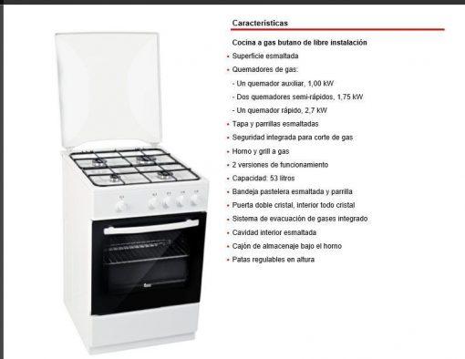 COCINA FS 501 4GG W LPG