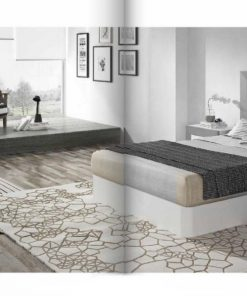 Dormitorio matrimonio Blanco-Plata Orion 201