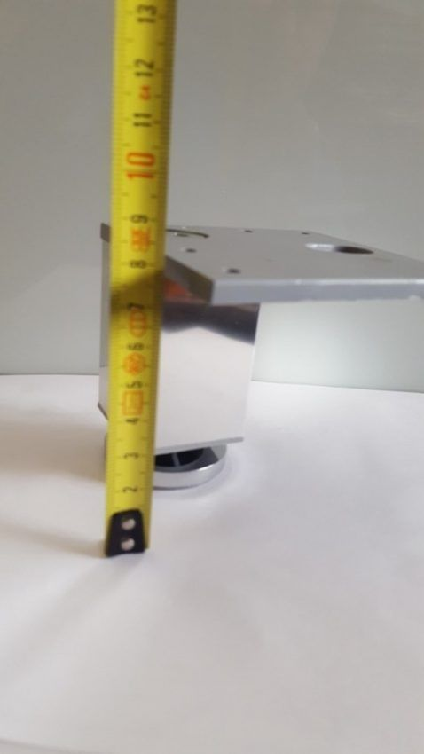 Pata decorativa Aluminio cuadrada 5 Pata decorativa Aluminio cuadrada