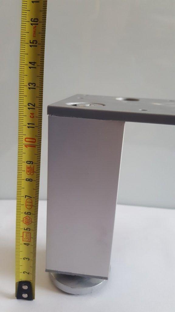 Pata decorativa Aluminio cuadrada 2 Pata decorativa Aluminio cuadrada