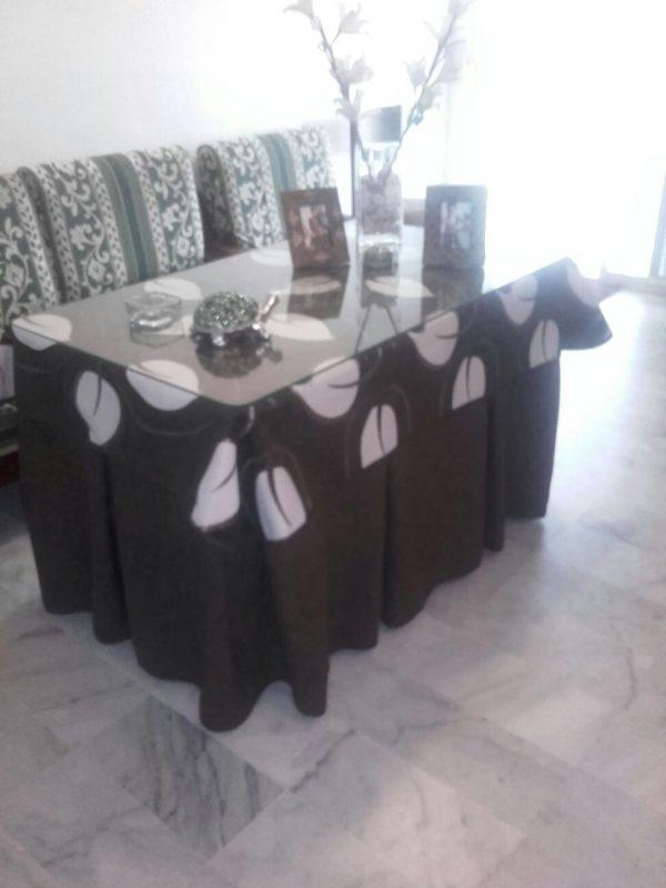 Ropa de camilla 10 fuelles - Vestir mesa camilla ...