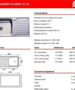 Fregadero Teka classic 1c 1e