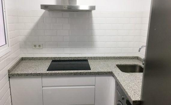 Lujo Alto Brillo Blanco Puertas De La Cocina Sin Tiradores ...