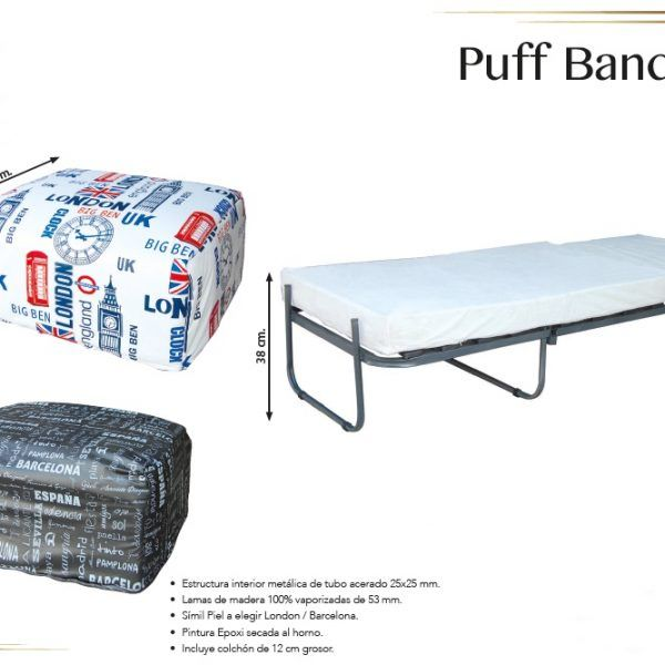 Puff Cama Bandera