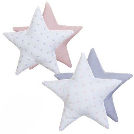 Juego de 2 Cojines originales diseño forma estrella
