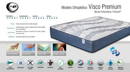 Colchón Visco Premium Modelo Ortopédico