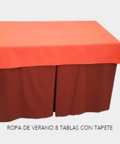 falda mesa camilla rectangular verano