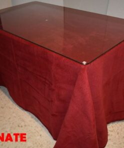 Falda camilla rectangular Granate (1)
