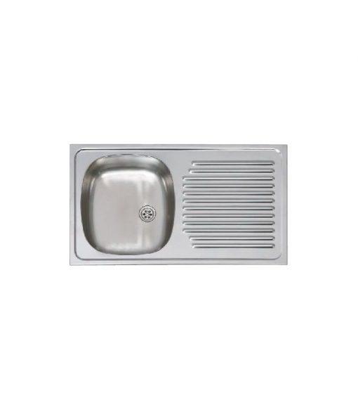 Fregadero Cocina Un Seno y Escurridor 80x51