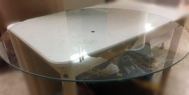 Cristal para mesa camilla redonda