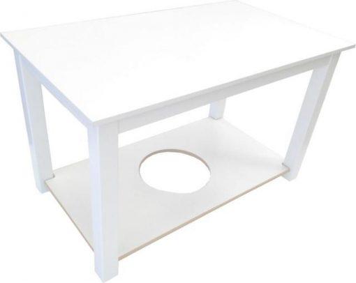 Mesa camilla lacada blanco