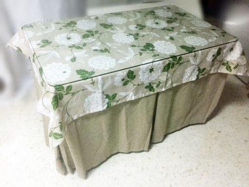 Mesa camilla completa (Mesa+Falda+Cristal+Tapete) 130/140x80x71