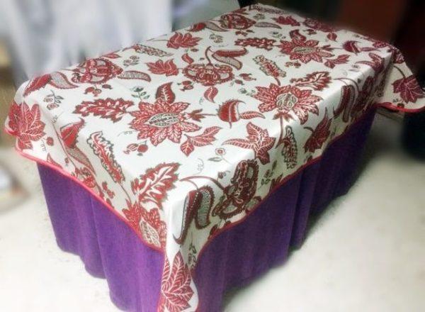 Falda mesa camilla Rectangular Serie Plata