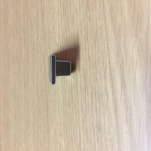 Pomo rectangular Cromo Mate