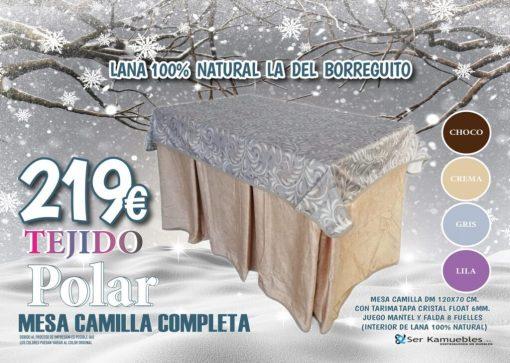 Pack Mesa de Camilla Rectangular Completa POLAR