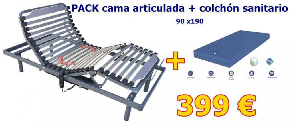 Cama eléctrica Sevilla y Colchón Sanitario