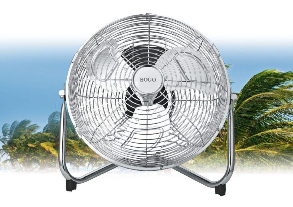 Ventilador de suelo de 23cm con gran caudal de aire sogo - Ventilador de suelo ...