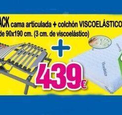 Pack Cama articulada eléctrica+Colchón Visco