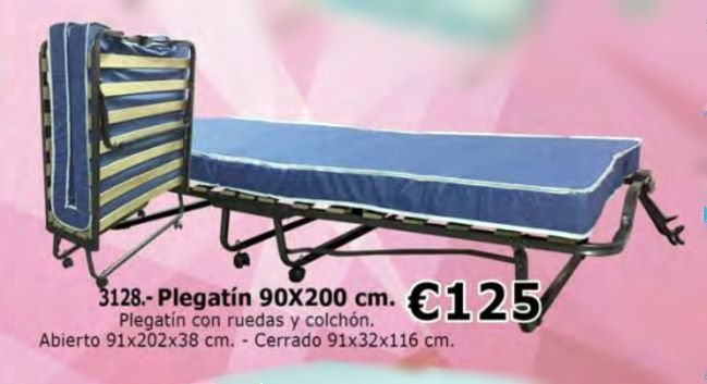 Cama plegable 90x200