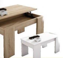 Mesa de centro con tapa elevable