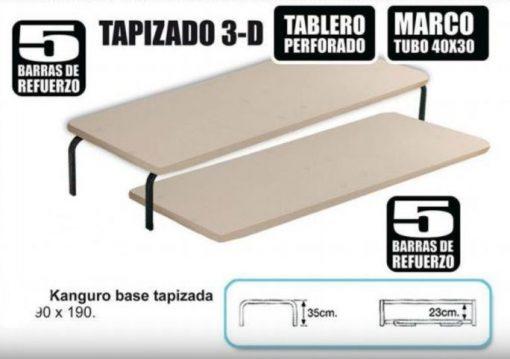 Kanguro base tapizada