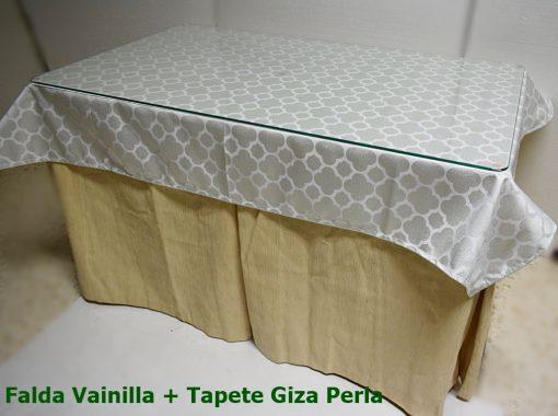 Mesa Camilla Rectangular Completa (Mesa+Tarima+ Falda+Cristal+Tapete)