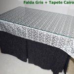 Falda Mesa Camilla Rectangular Modelo Egipto