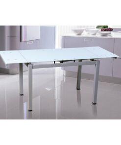 Mesa Cocina Extensible con Tapa de Cristal