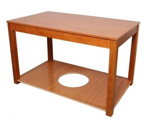 Mesa camilla rectangular fija