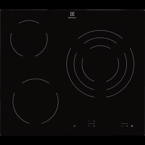 Placa vitrocerámica Electrolux EHF6231IOK con 3 zonas de cocción