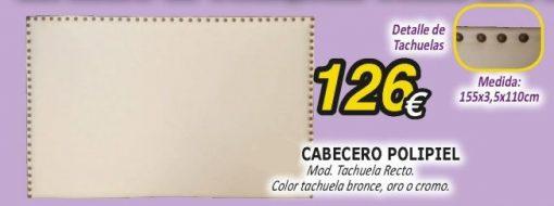 Cabecero polipiel Tachuela Recto